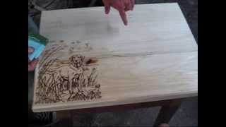 Tips on wood burning finishs