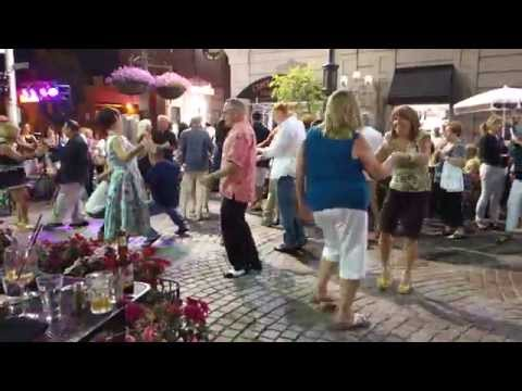 Dancing on Federal Hill - Providence Rhode Island.