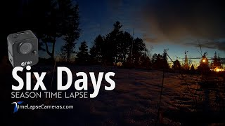 Six Day Season, sunrise to sunset Time Lapse in Minnesota