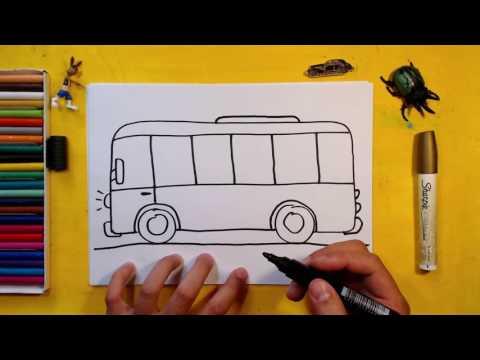 Как нарисовать АВТОБУС / Урок рисования для детей от 3 лет