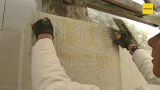 Multipor Mineraldämmplatte: Verarbeitung Innendämmung mit Leichtmörtel