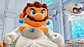 Super Mario Odyssey - Final Boss & Ending (Wedding Dress Mario Costume)
