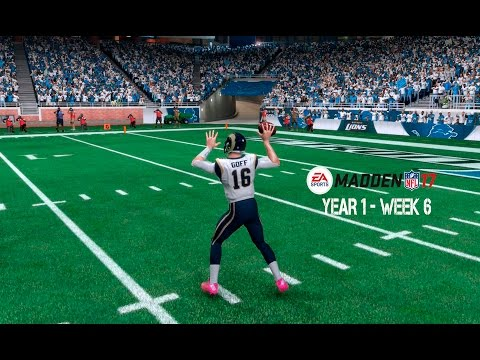 Madden 17 Franchise: Detroit Lions | Y1, W6 vs. Rams