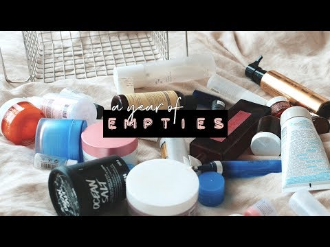 052dbe9f8d4 EMPTIES (1 year of makeup, hair, skincare) | WITHWENDY - YouTube