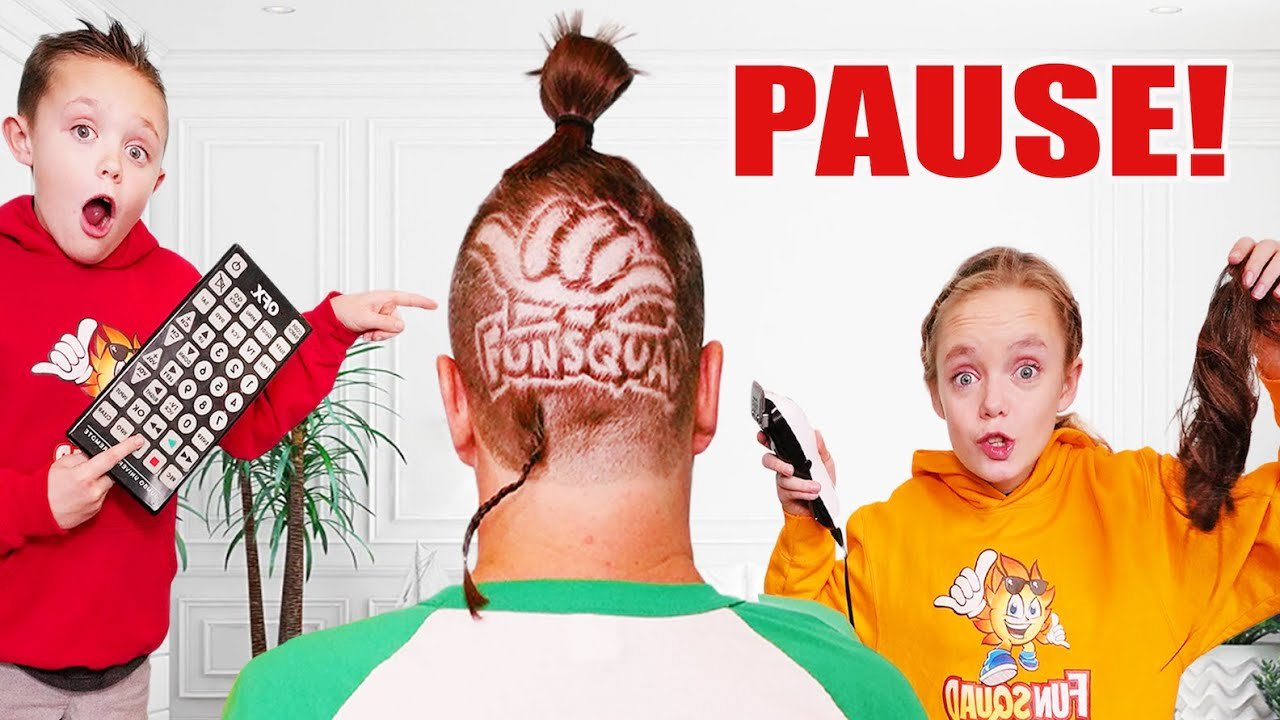 I Shaved Dads Head! Sneaky Jokes and Funny Pause Challenge with the Fun Squad