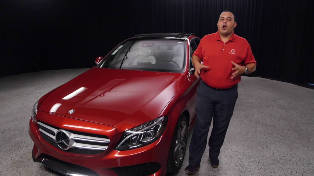 The Cardinal Red 2016 Mercedes Benz C Class C300 From Mercedes Benz Of Scottsdale Youtube