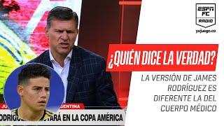 ¡Choque de trenes! La versión de #James enfrentada a la del cuerpo médico de la Selección Colombia