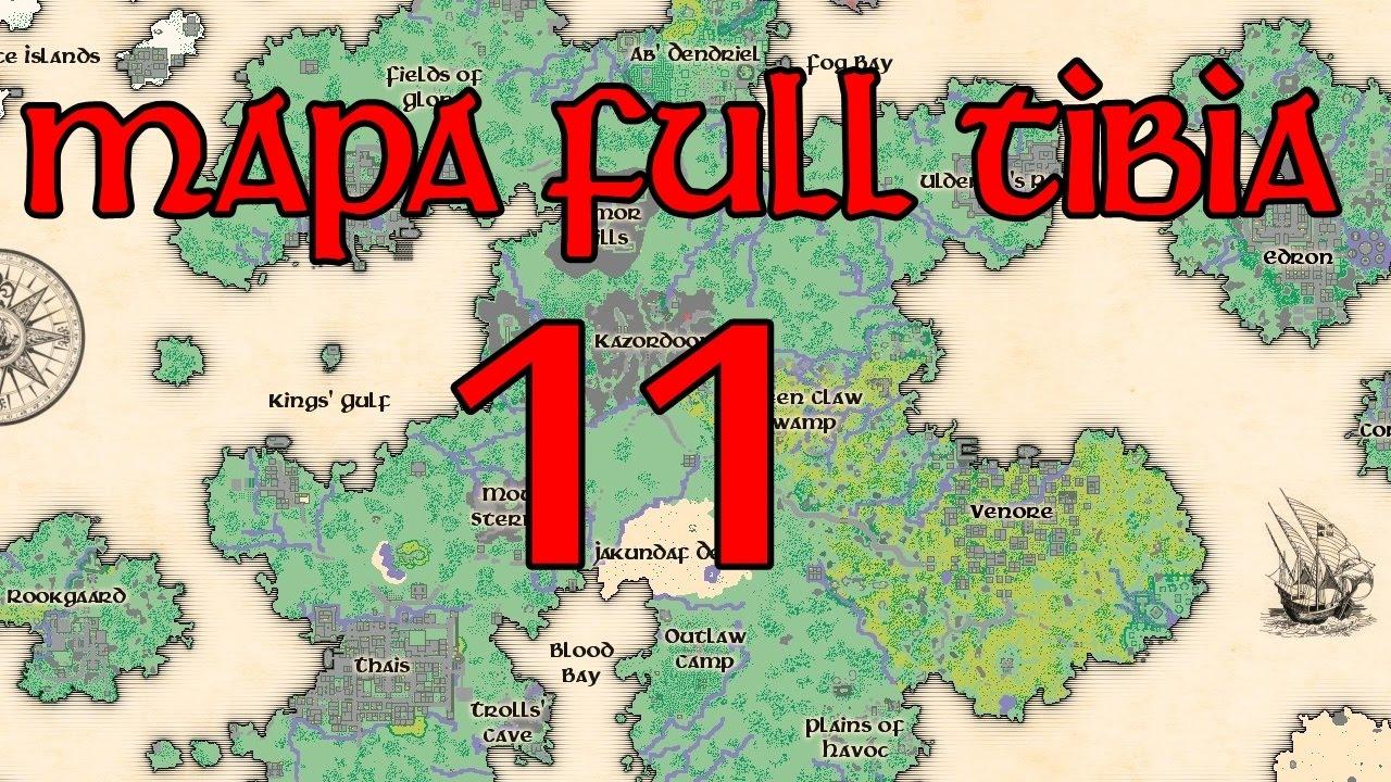 Tibia World Map.Como Usar Mapa Full No Tibia 11 Youtube