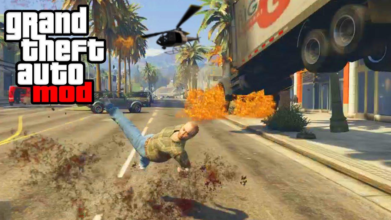 "GTA 5 PC Mods - ""CARMAGEDDON"" MAYHEM MOD GAMEPLAY! (GTA V ..."