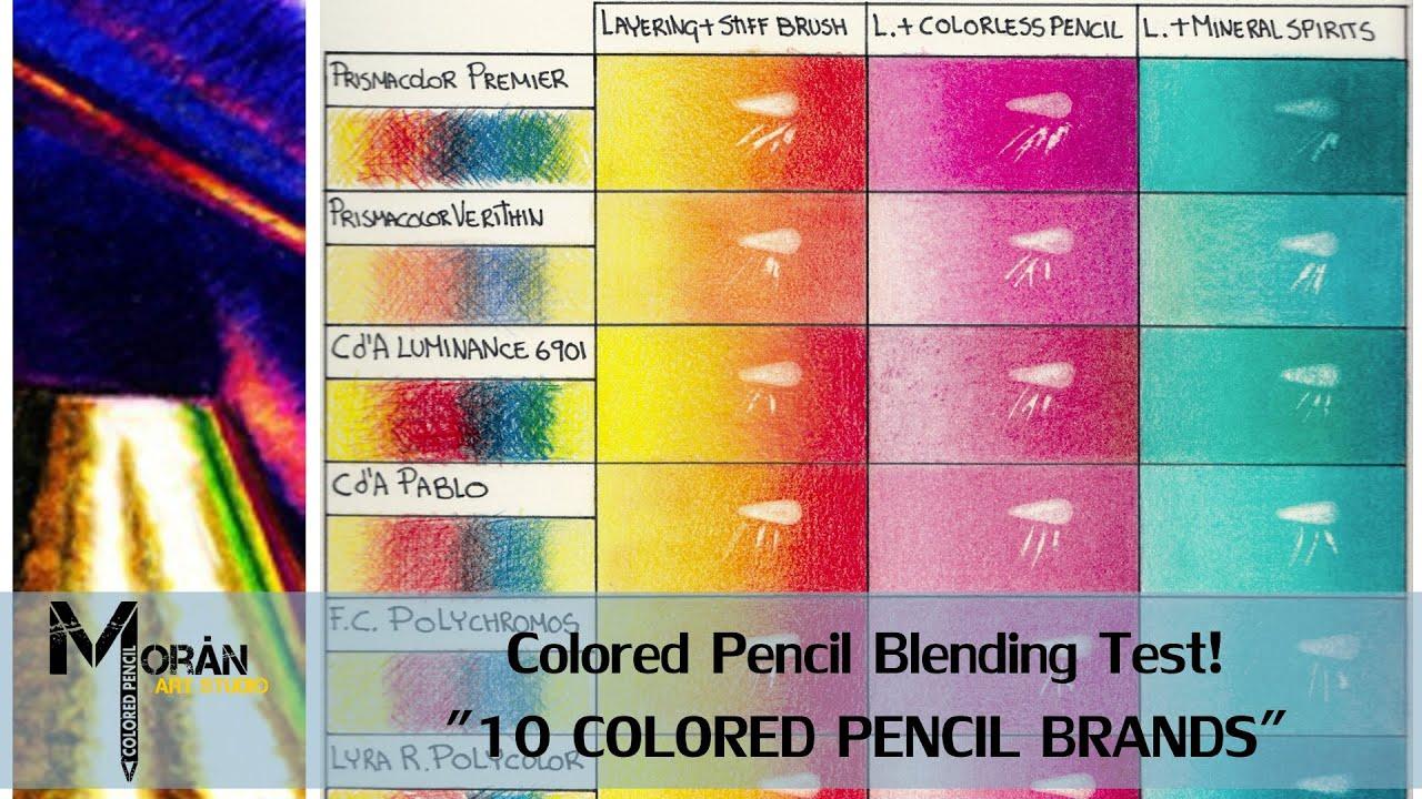 colored pencil blending test 10 colored pencil brands youtube. Black Bedroom Furniture Sets. Home Design Ideas