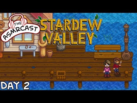 ASMR Gaming: Stardew Valley - Day 2 Learning To Fish