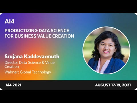 Productizing Data Science for Business Value Creation