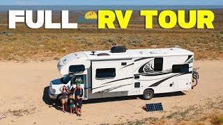 Updated RV Tour  Full Time RV Family In A Class C RV  Let's Travel Family