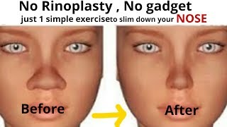 Slim Down your Nose with 1 Simple exercise #ReshapeNose| Very effective exercise for nose slimming
