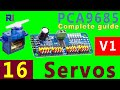 Complete guide to  PCA9685 16 channel Servo controller for Arduino with code