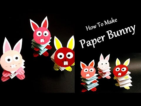 Paper Bunny Rabbit | How To Make Paper Jumping Bunny | Easy Paper Crafts For Kids