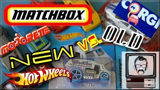 Matchbox cars old vs. new - physicals versus | nostalgia nerd