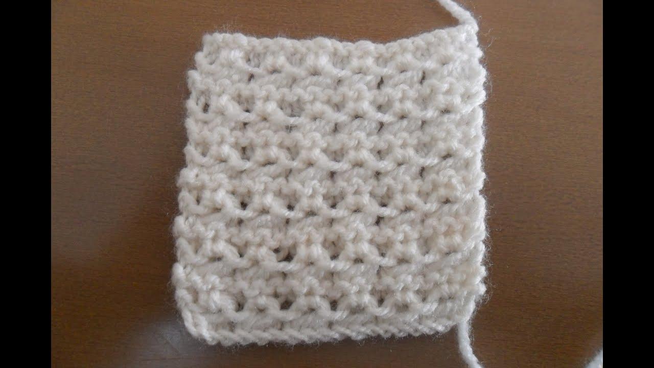 Aprende a tejer en dos agujas punto fantasia 1 youtube - Puntos para tejer ...