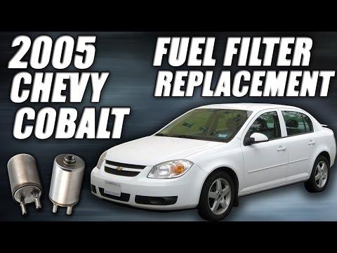 fuel filter replacement 2006 chevrolet cobalt ls install remove