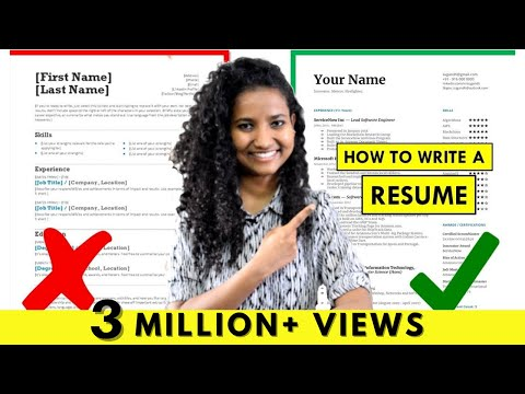 How To Write A Resume | For Freshers & Experienced People (Step-by-Step Tutorial)