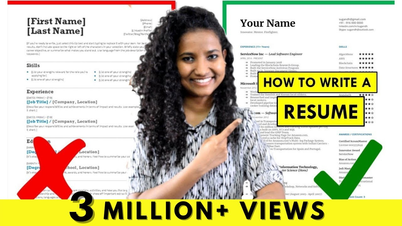 How To Write A Resume For Freshers Experienced People Step By