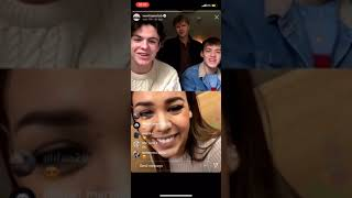 Gambar cover New Hope Club and Danna Paola instagram live 9/30/19