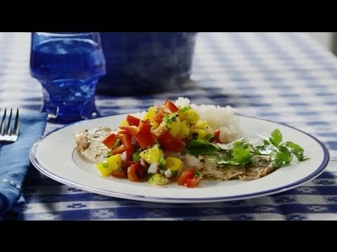 How to Make Grilled Tilapia with Mango Salsa | Fish Recipes | Allrecipes.com