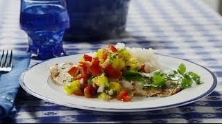 Fish Recipes - How To Make Grilled Tilapia With Mango Salsa