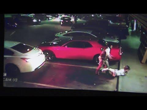 Surveillance Video Of Fight Outside Houston Nightclub
