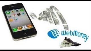 Пополнение кошелька WebMoney через СМС