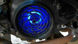 Emezing ini yang keren!! Cara bikin efek mesin jet di motor. | Modification edisi