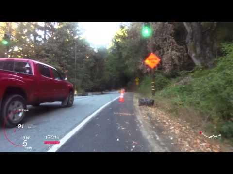 Highway 9 descent, Saratoga, California