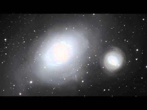 Panning across the galaxies NGC 1316 and 1317