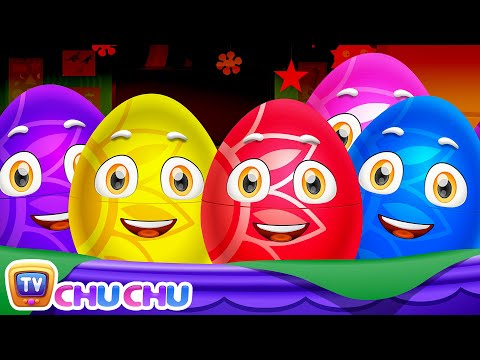Thumbnail: Learn Actions Words for Kids with ChuChu TV Surprise Eggs Toys & Nursery Rhymes | Snapping, Jumping