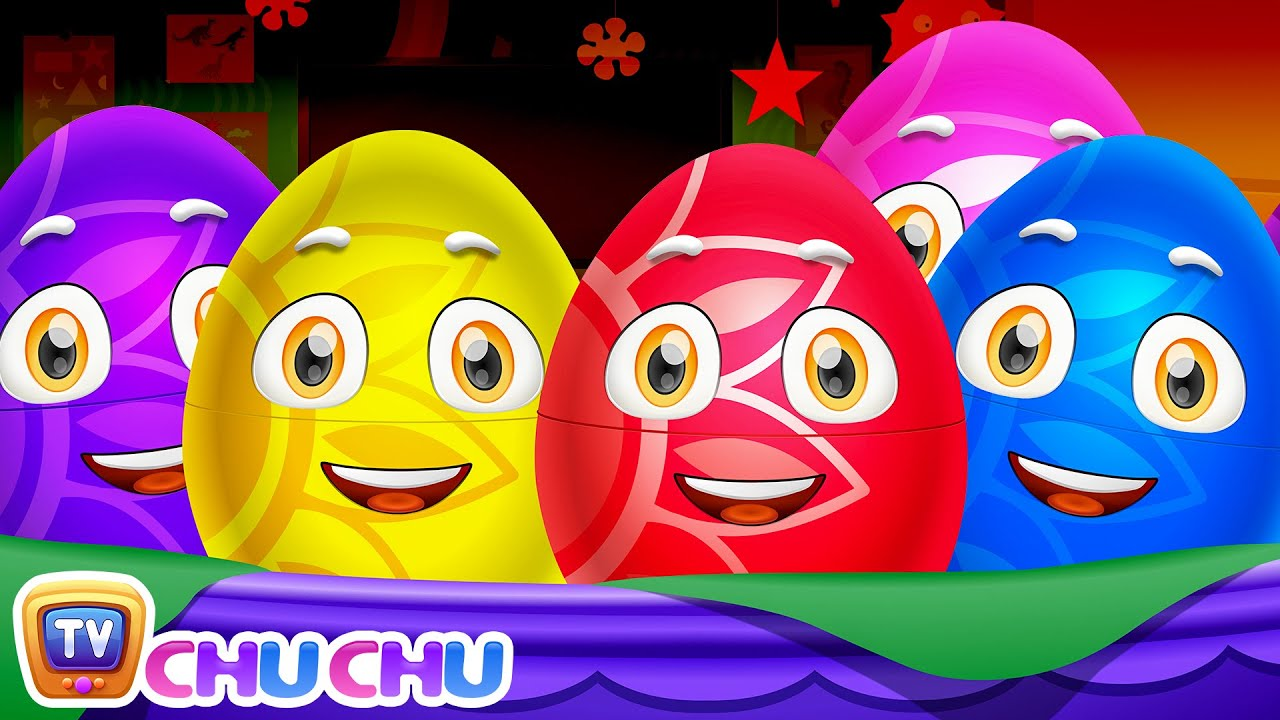 Learn Actions Words for Kids with ChuChu TV Surprise Eggs Toys & Nursery Rhymes | Snapping, Jump