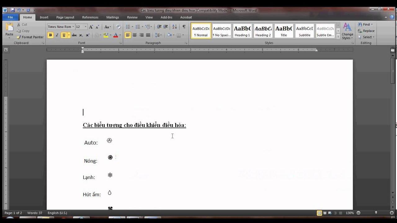Hướng dẫn cắt dán biểu tượng từ file PDFsang file WORD