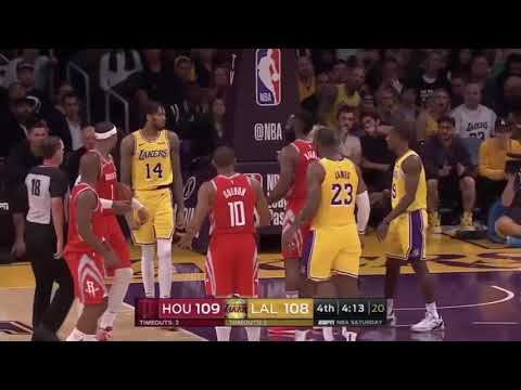 LAKERS VS ROCKETS FULL FiGHT/BRAWL!