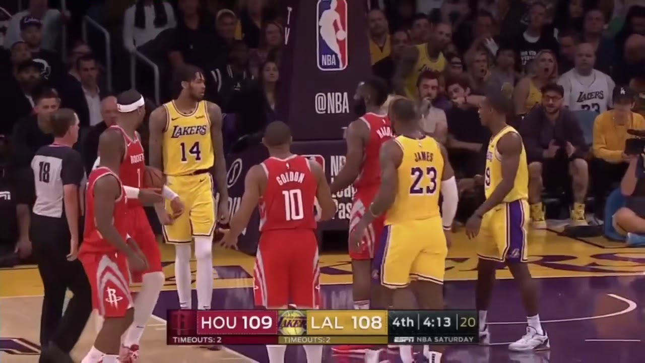 LAKERS VS ROCKETS FULL FiGHT/BRAWL! - YouTube