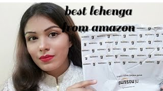 Amazon lehenga|best lehenga at Amazon|amazon lehenga review n unboxing|online shopping review