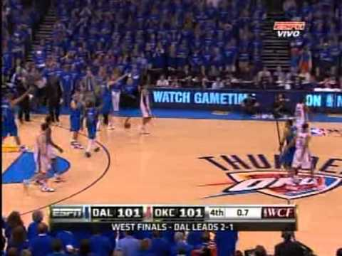 2011 Western conference finals. mavericks vs. thunder ,game 4 . four quarter /overtime, part 3