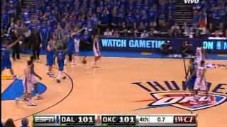 2011 Western conference finals. mavericks vs. thunder ,game 4 . four quarter /overtime, part 3