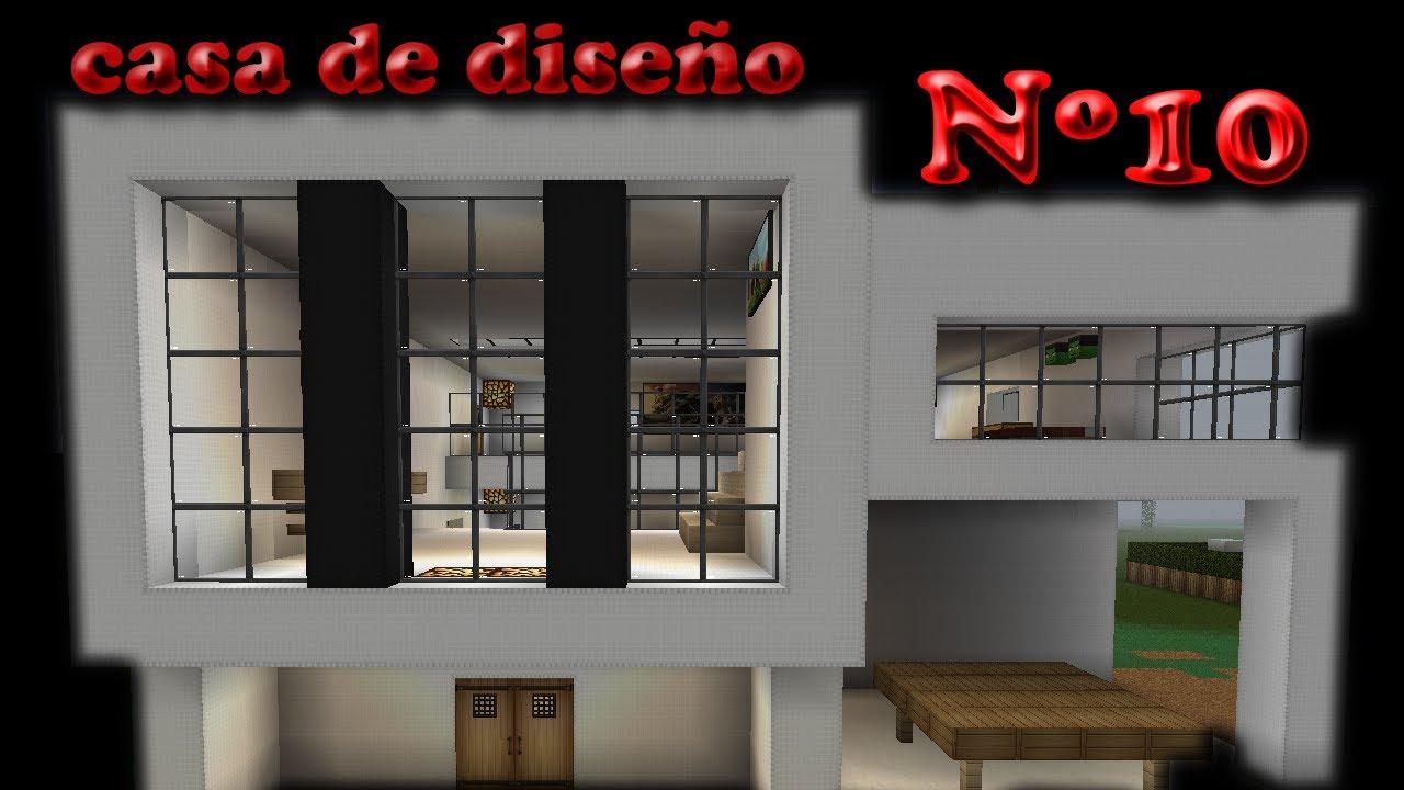 Minecraft casa de diseño design house nº 10