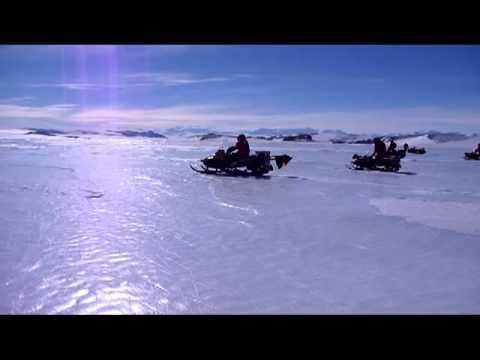 Skidooing in the Miller Range, Transantarctic mountains, Antarctica.