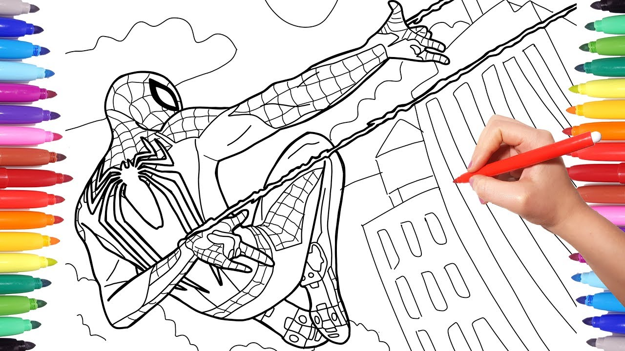 Spider-Man PS4 Videogame 2018 Coloring Pages, How to Draw ...