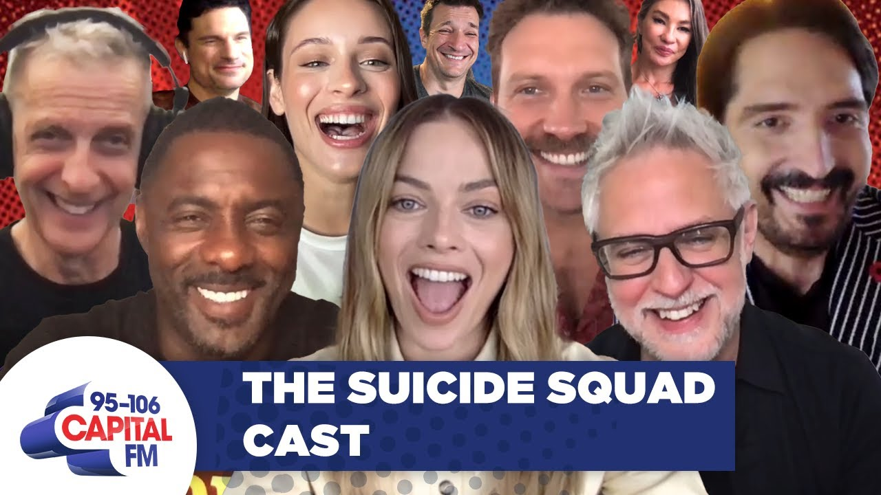 The Suicide Squad Cast Talk Weird Merch, Love Island, Luther Movie & More 💀 | Capital