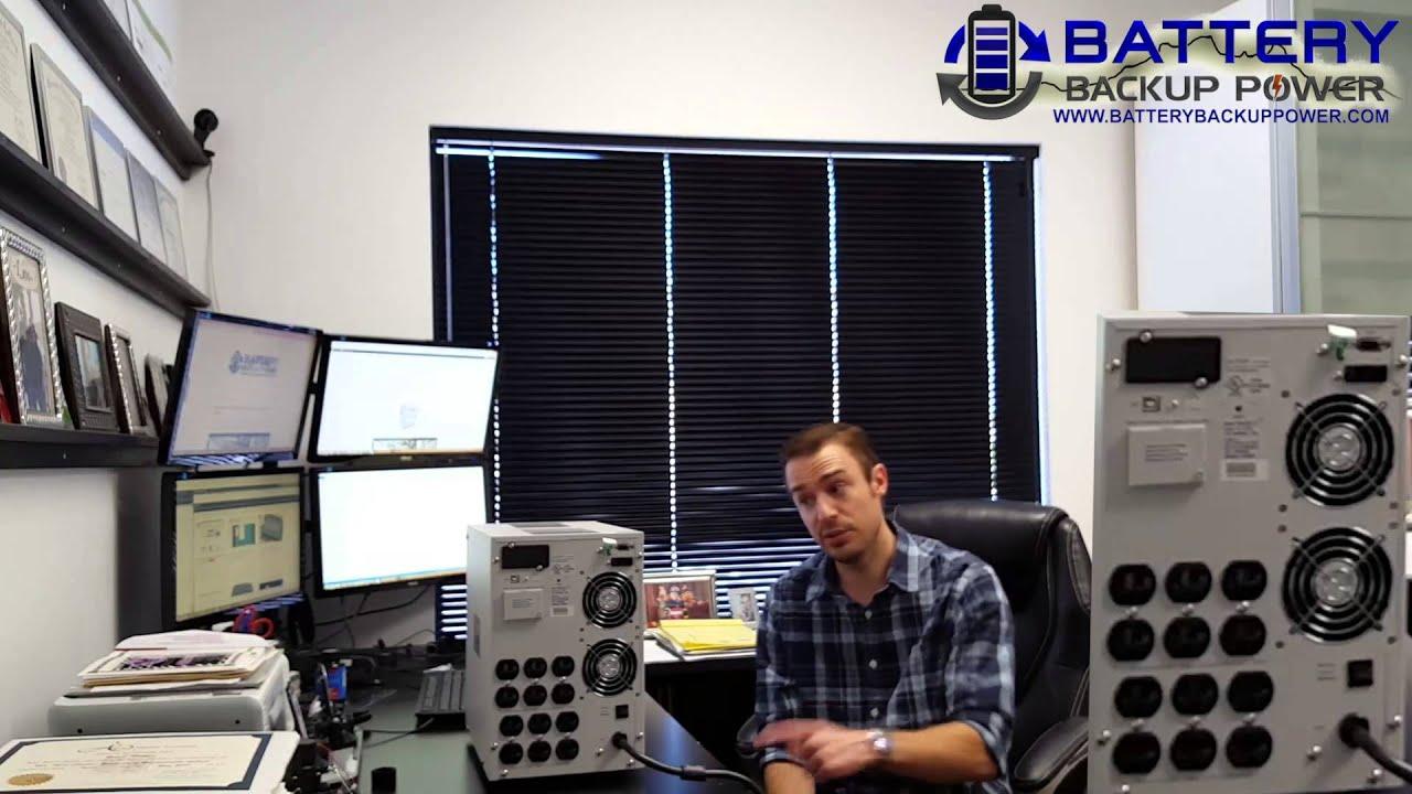 2 kVA / 1,200 Watt Battery Backup Heavy Duty UPS With AVR (Automatic  Voltage Regulation)