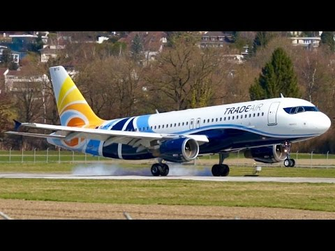 Best Looking! Airbus A320 of Trade Air Short Landing at Bern
