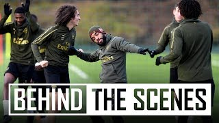 LACA WITH A CHEEKY CHIP | Behind the scenes at Arsenal training centre