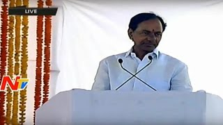 CM KCR Speech At Amaravathi Foundation Ceremony | Telangana Will Help AP Capital Formation