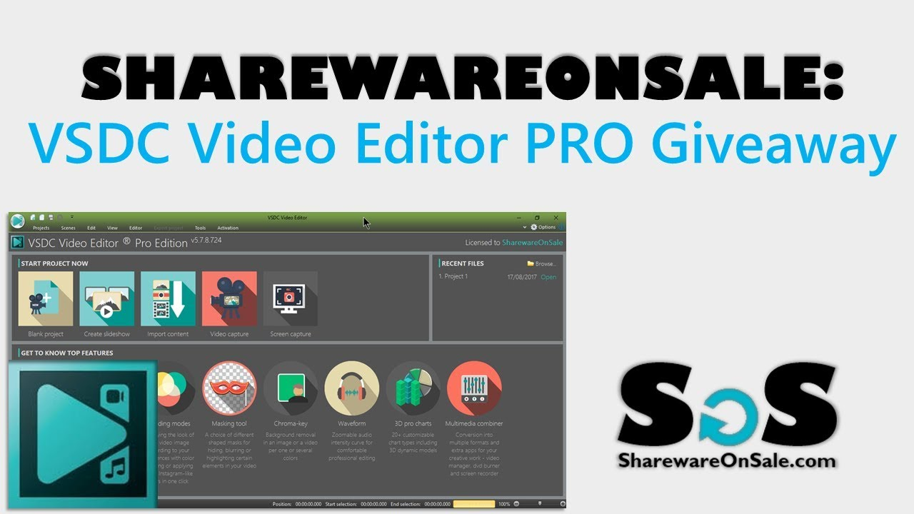 ShareWareOnSale: VSDC Video Editor Pro Giveaway